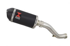 VFR1200F 2010-2016 Exhaust Silencer 200mm Oval Black Stainless Carbon Tip